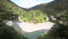 Stock Video Footage of Waioeka river and native forest