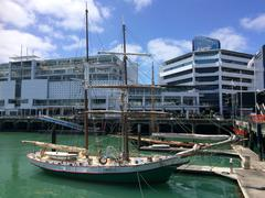 Yacht mooring in Auckland waterfront New Zealand Stock Photos