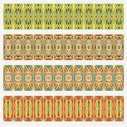 Set of belt geometric patterns in vintage style. Useful for frame or border d Stock Illustration