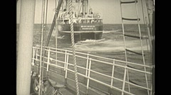 Vintage 16mm film, 1938, whaling, whaler Wikinger Stock Footage