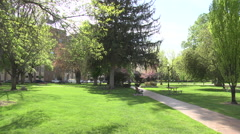 City Park in Downtown Summer Stock Footage
