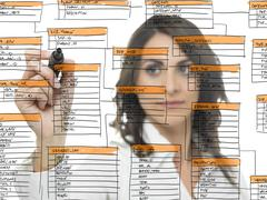Database software development - stock photo