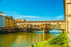 Pone Vecchio over Arno river in Florence, Italy Stock Photos