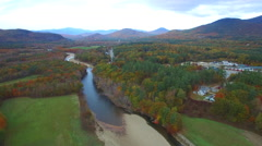 North Conway NH aerial footage - stock footage