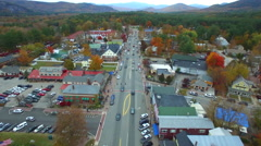 Conway NH aerial drone video - stock footage