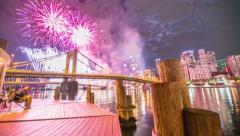 Pittsburgh Firework Motion Timelapse Stock Footage