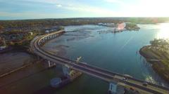Bridge in Portland Maine Stock Footage