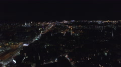 Vision of Boston at night - stock footage