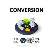 Conversion icon in different style Stock Illustration