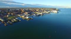 Portland Maine aerial video footage Stock Footage