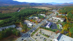 Conway New Hampshire aerial video 3 - stock footage