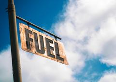 Fuel Vintage Rusted Sign - stock photo