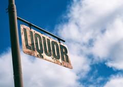 Liquor Vintage Rusted Sign Stock Photos