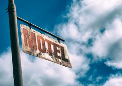 Motel Vintage Rusted Sign - stock photo