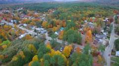 Residential neighborhood with foliage 4k 2 Stock Footage