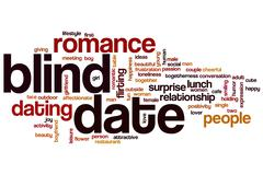 Blind date word cloud concept - stock illustration