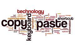 Copy paste word cloud concept Stock Illustration