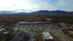 Conway New Hampshire aerial video - stock footage