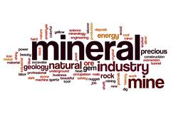 Mineral word cloud concept Stock Illustration