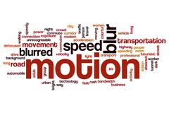 Motion word cloud concept Piirros