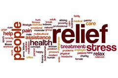 Relief word cloud concept Stock Illustration