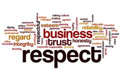 Respect word cloud concept - stock illustration