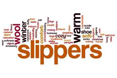 Slippers word cloud concept - stock illustration