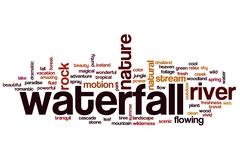 Waterfall word cloud concept Stock Illustration