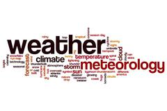 Weather word cloud concept Stock Illustration