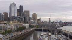 Seattle Waterfront View Stock Footage