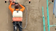 Concrete polishers Stock Footage