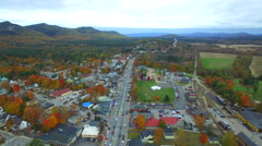 North Conway aerial video - stock footage