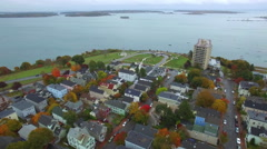 Stock video Portland Maine aerial - stock footage