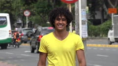 Urban Male, Man, City Resident Stock Footage
