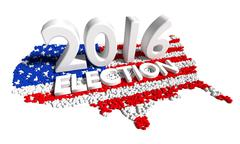 2016 Presidential Election with American USA Flag Stock Illustration