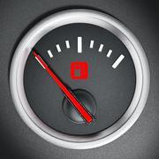 Fuel gauge - stock illustration
