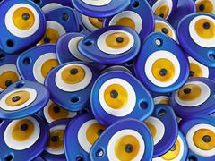 Evil Eye or Nazar amulet stack - stock illustration