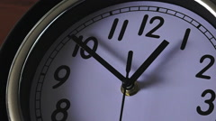 Clock ticking backwards Stock Footage