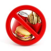 Fast food and forbidden sign Stock Illustration