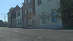 Graffiti on Abandoned Street Buildings - 29,97FPS NTSC Stock Footage