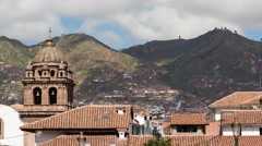 Stock Video Footage of Cusco City Rooftops Time Lapse 4K, Peru