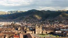 Stock Video Footage of Cusco City Sunset Time Lapse 4K, Peru