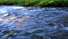 Rapid stream of mountain river. (with sound) Stock Footage