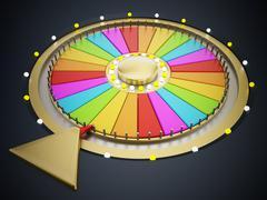 Prize wheel - stock illustration