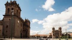 Stock Video Footage of Cusco Plaza De Armas Day Time Lapse 4K, Peru