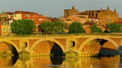 Cityscape of Toulouse at sunset timelapse Stock Footage