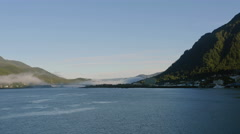 Juneau Alaska Panorama Time Lapse Stock Footage