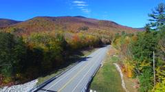 Peak foliage New Hampshire Stock Footage