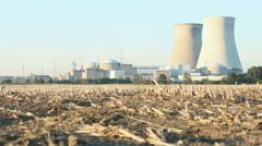 Late Afternoon Sun on Nuclear Power Plant - Editorial - 29,97FPS NTSC - stock footage