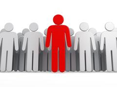 Leader of the group - stock illustration